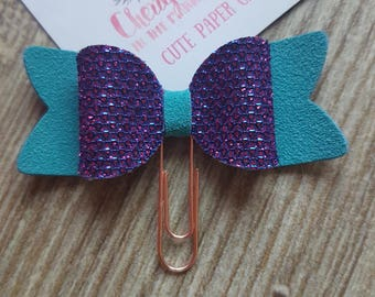 Small Purple and Turquoise 3D Bow