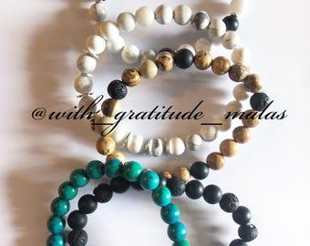 Custom Mala bracelets- Mala Beads- Mantra - Custom- Prayer Beads- Jewelry- Bracelets
