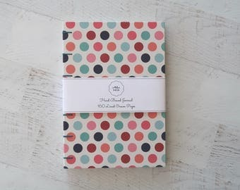 Dots Coptic Notebook Coptic Journal Travel Journal Blank Journal Stationery Hardcover Hand Bound 160 Lined Cream Pages