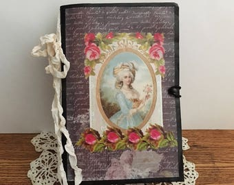 Vintage Paris Journal | Junk Journal | Vintage Journal | Handmade Journal | Diary | Blank Notebook