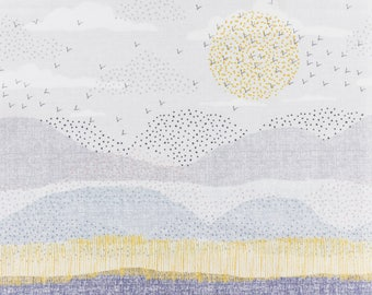 "20cm fabric cotton dashwood ""bird watching"""