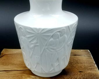 Art Deco 1960s-70s EDELSTEIN BAVARIA Porcelain Vase Made in Germany Fat Lava Era