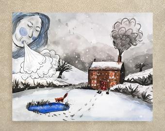 SALE / Lady Winter Card