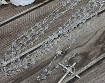 FAST SHIPPING!! Beautiful Sparkling Silver Wedding Lasso, Christian Lasso, Wedding Lasso, Lazo de Bodas, 25th Anniversary, Unity Cord