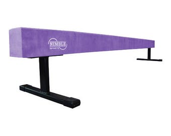8ft Long 12in High Gymnastics Suede Balance Beam