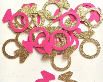 200 Ring Confetti / Wedding confetti / Bridal Shower confetti
