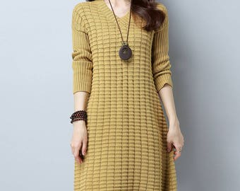 Loose sweater dress | Etsy