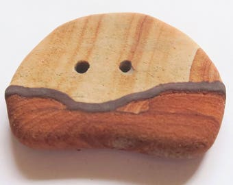 Landscape Button Made From Kanab Wonderstone