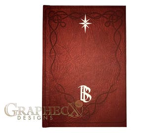 Fan-made Hobbit Bilbo's book inspired personalized hardcover journal notebook