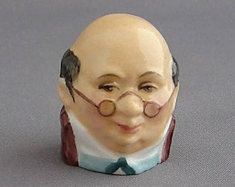 Francesca Character Head Thimble - Mr Pickwick