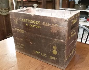 WWII Military Ammo Crate .50 Cal M2 Ball Armor Piercing For Browning Machine Gun