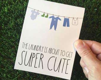 Cute Baby Shower Card - Card for baby boy - Card for Baby Shower - funny baby shower card - funny baby card - congratulations pregnancy card