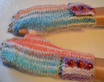 buttoned hand knitted long mtaines