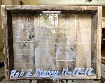 Custom Letter Pallet Wood Cork Holder