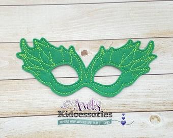Poison Ivy Inspired Mask - Felt Mask - Halloween Mask - Pretend Play Mask