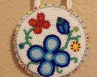 Rainbow floral necklace