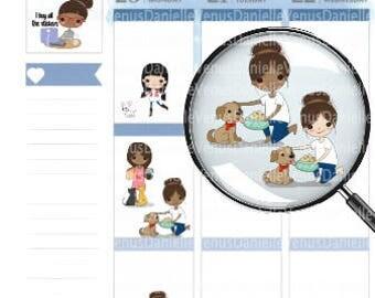Pet Care Planner Stickers, Pet Stickers, Pet Reminder, Animal Stickers, Dog Stickers, Cat stickers, Pet Sampler, Pet Planner, Pet Chores