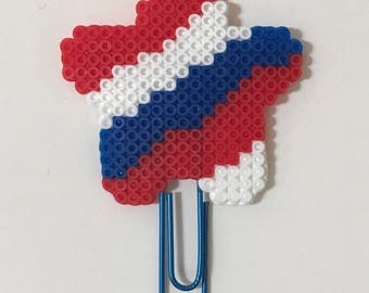 American Star Planner Clip | Paper Clip | Bookmark | Planner Clips | USA | 4th of July | America | Mini Perler Beads | Patriotic |