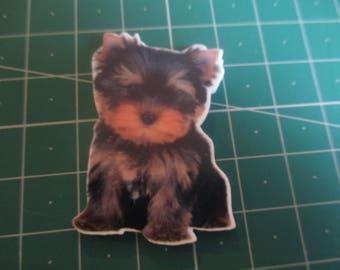 Yorkie dog puppy  Needleminder, Needlekeeper, Needle magnet, Magnet Minder