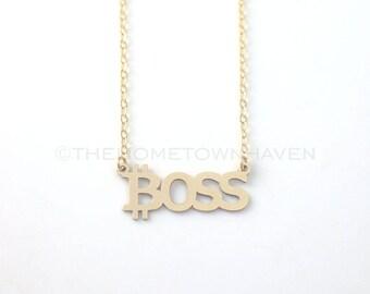 Bitcoin Boss Necklace, Boss Necklace, Bitcoin Necklace, Like a boss, goal digger