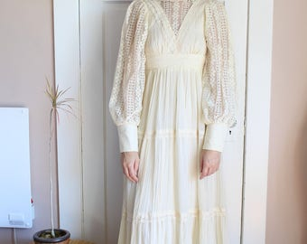 SOLD - Peasant Maxi Dress/Wedding Dress