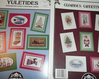 Astor Place Perforated Paper Glorious & Yuletide Greetings Pattern Leaflets