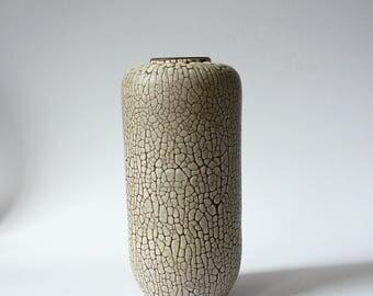 Albert Kiessling Vase Reptile / Snake skin decor Langenhessen East German Pottery