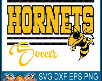 Hornets Soccer| SVG| DXF| EPS| Png| Cut File| Hornets| Soccer| Soccer Mom| Vector File| Silhouette| Cricut| Instant Download