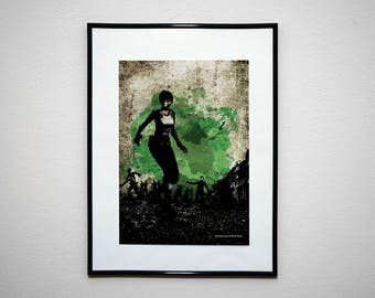 The Survivor of Hour Zero - Video Game Grunge Wall Art Print Poster.