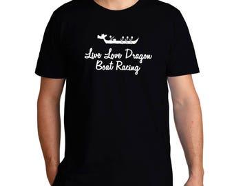 Live Love Dragon Boat Racing T-Shirt