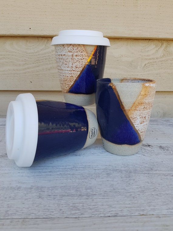 Handmade Ceramic Keep Cup/Tumbler -  made in melbourne - gifts for her - gifts for sister - gifts for mum - modern decor - keep cup