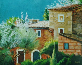 Spring in Mallorca  - painting on canvas