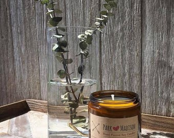 Eucalyptus Mint Soy Candle, Soy Candles Handmade,  Scented Soy Candle, Essential Oil Candle, Herbal Candle, Gifts