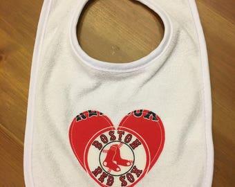 Boston Red Sox Heart Bib