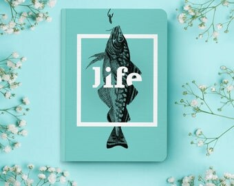 Notebook   Pocket Notebook   Gift   Notepad   Sketch   Drawing   Journal   Planner   Life   Fish