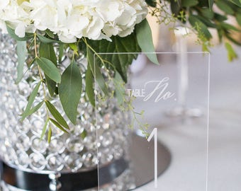 Acrylic Table Number, Laser Cut Etched, Wedding Decor, Party Decor, Perfect Weddings,Gold Wedding Decor,Acrylic Wedding Signs,Lucite Numbers