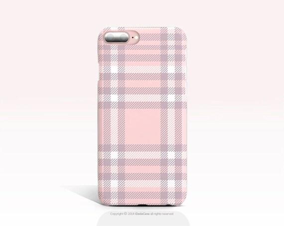 iPhone 8 Case TOUGH iPhone 7 Case Pink Tartan iPhone X Case iPhone 7 Plus Case iPhone 6s Case iPhone 6 Case Galaxy S7 Case Galaxy S8 Case