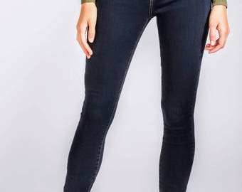 Dark blue double stitched Jeans