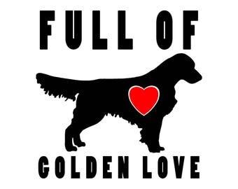 Full of Golden Love Vinyl Sticker