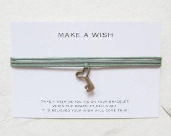 Wish bracelet, make a wish bracelet, key bracelet, W45