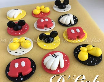 Mouse Assorted Cupcake Toppers (12)