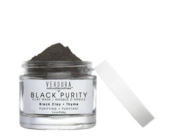 Black Purity Clay Mask, Antiseptic Clay & herbal blend to help fight all common skin concerns,Oily skin,Acne,Blemishes