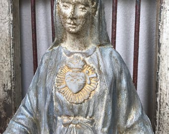 Immaculate Heart of Mary cement statue