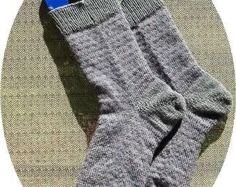 CUSTOM -- Handknitted Men's Superwash Merino/Nylon Socks