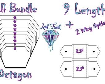 "Octagon/Full Bundle/Cloth Pad Pattern/2.5"" Snapped Width/Leak Freak Compatible"
