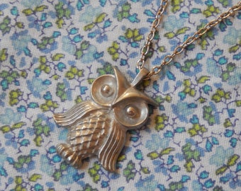 Small Hooty Owl Pendant Necklace