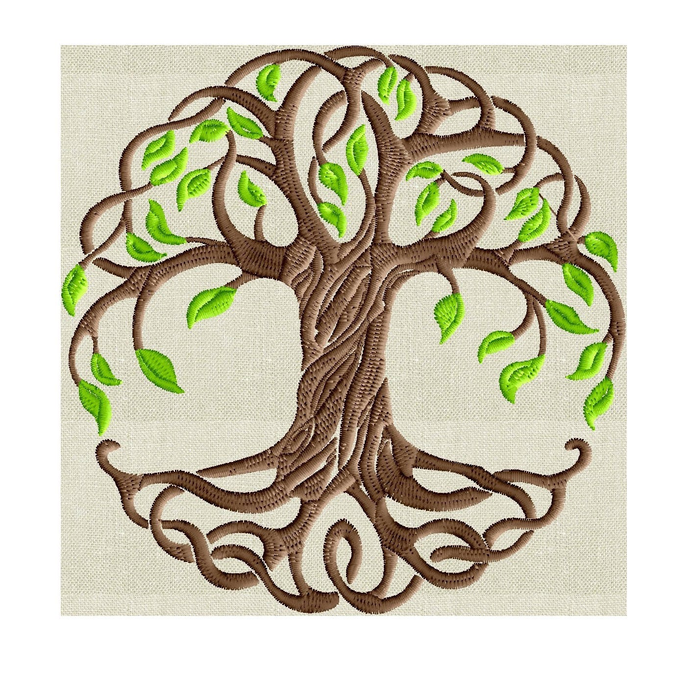 tree of life 2 color embroidery design -font not included- embroidery design file