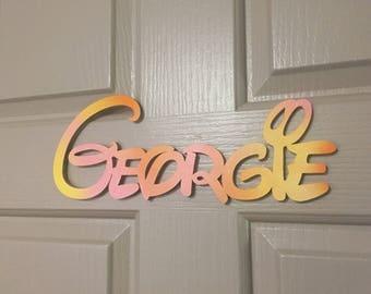 Disney Font Bedroom Door Name Sign