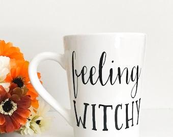 CLEARANCE mug, Imperfect mug, Feeling witchy, coffee mug, coffee cup,mug,custom mug,halloween mug,fall mug,witch mug,gift for her,office mug