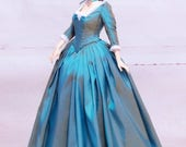 FID Iple Turquose Blue day-time rococo dress (outfit for Iplehouse FID lady)